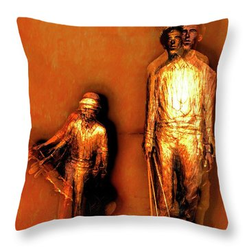 Francis D. Ouimet And Caddy Throw Pillow