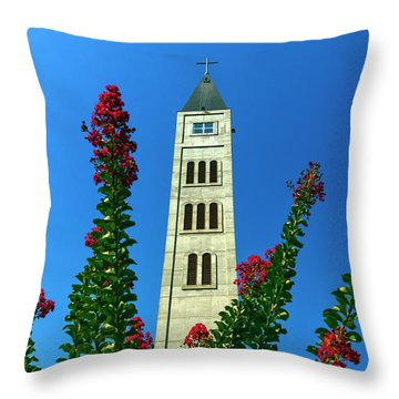 Franciscan Monastery Of Saint Luke Tower In Mostar, Bosnia And Herzegovina Throw Pillow