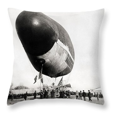 Francois Airship, 1904 Throw Pillow by Granger
