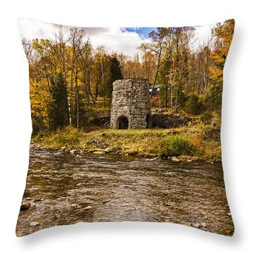Throw Pillow featuring the photograph Franconia Fall by Anthony Baatz