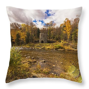 Throw Pillow featuring the photograph Franconia Iron Works by Anthony Baatz