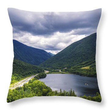 Franconia Notch And Eagle Lake Throw Pillow