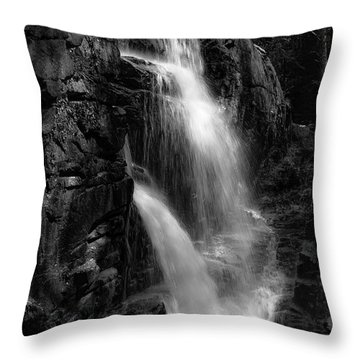 Franconia Notch Waterfall Throw Pillow