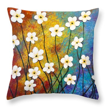 Frangipani Explosion Throw Pillow