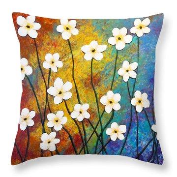 Frangipani Explosion Throw Pillow