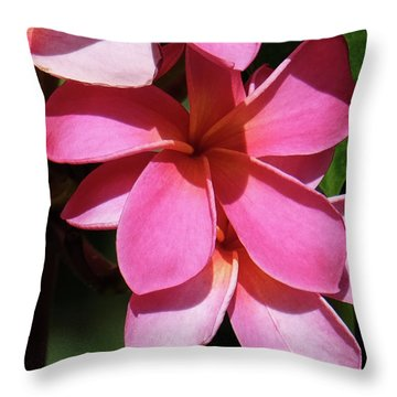 Frangipani Throw Pillow by Mini Arora