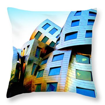 Frank Gehry 3 Throw Pillow by Randall Weidner