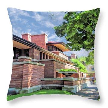 Frank Lloyd Wright Robie House Throw Pillow