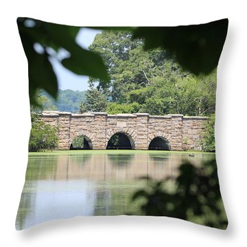 Frank Melville Memorial Park Setauket New York Throw Pillow by Bob Savage