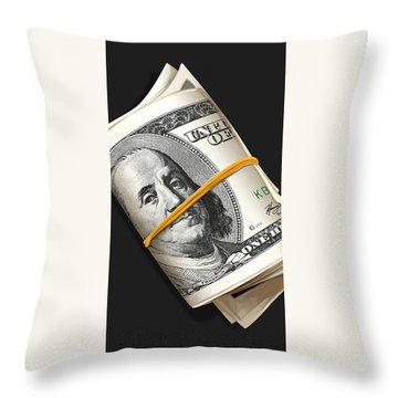 Frank Rolls Throw Pillow