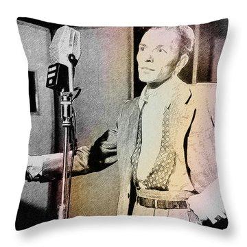 Frank Sinatra 1947 Throw Pillow by Ericamaxine Price