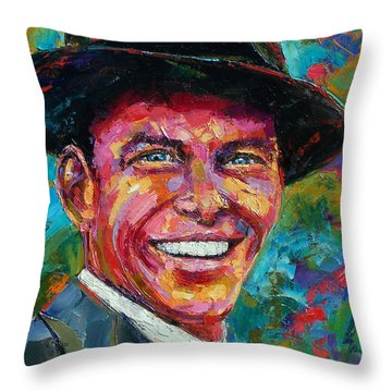 Frank Sinatra Throw Pillow by Debra Hurd