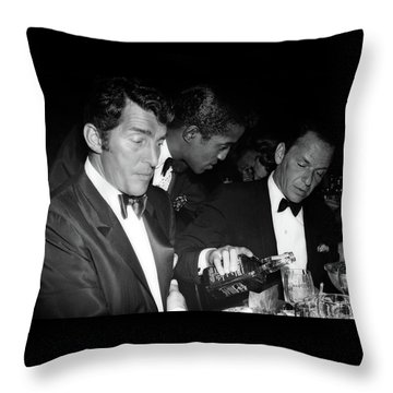 Frank Sinatra Drank American Whiskey His Way Throw Pillow
