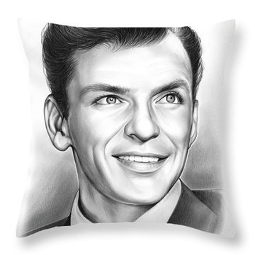 Frank Sinatra Throw Pillow by Greg Joens