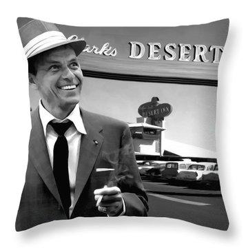 Frank Sinatra In Las Vegas Throw Pillow