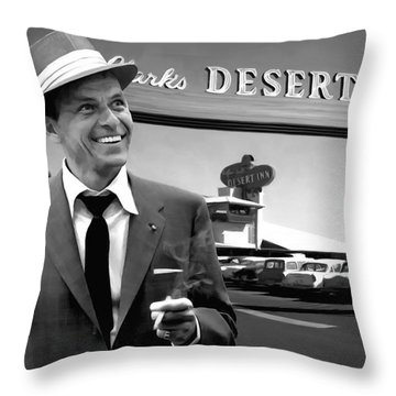 Frank Sinatra In Las Vegas Throw Pillow