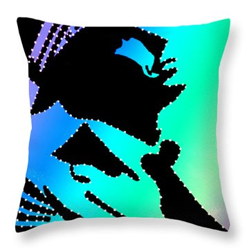 Frank Sinatra Over The Rainbow Throw Pillow by Robert Margetts
