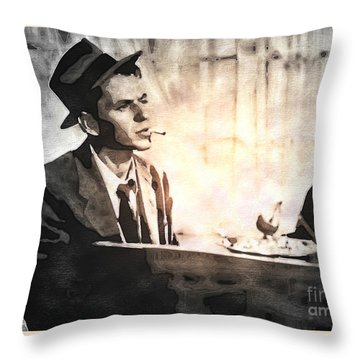 Frank Sinatra - Vintage Painting Throw Pillow