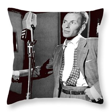 Frank Sinatra William Gottlieb Photo Liederkranz Hall New York City 1947-2015 Throw Pillow by David Lee Guss