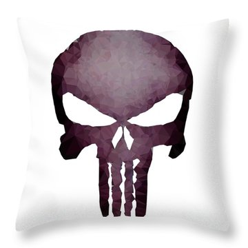 Frank Skull Throw Pillow