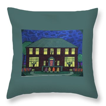 Frank Spies Home. Historical Menominee Art. Throw Pillow