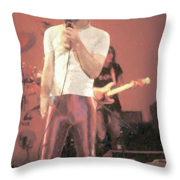 Frank Zappa Painting Throw Pillow