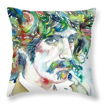 Frank Zappa Portrait Throw Pillow