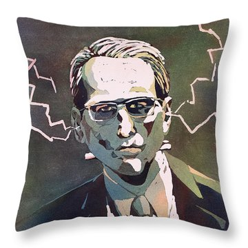 Throw Pillow featuring the painting Frankencrory by Ryan Fox