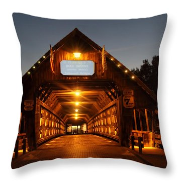 Frankenmuth Covered Bridge Throw Pillow by Pat Cook
