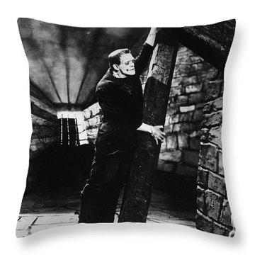 Frankenstein Boris Karloff Classic Film Image  Throw Pillow