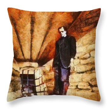 Frankenstein, Classic Vintage Horror Throw Pillow