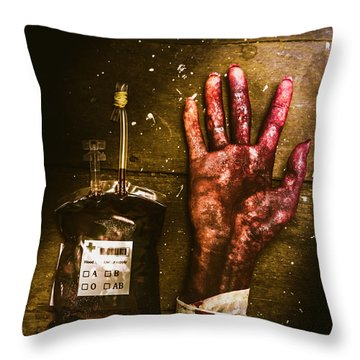 Frankenstein Transplant Experiment Throw Pillow
