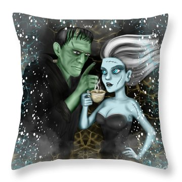 Frankenstien Fantasy Art Throw Pillow