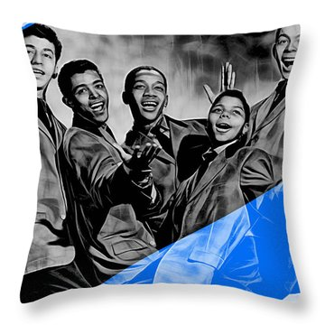 Frankie Lymon And The Teenagers Throw Pillow by Marvin Blaine