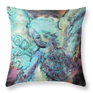 Franklin Angel Throw Pillow