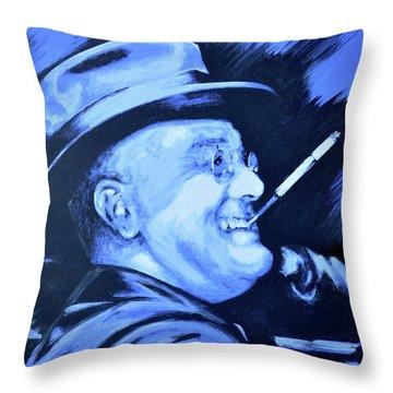 Franklin D. Roosevelt Throw Pillow by Victor Minca