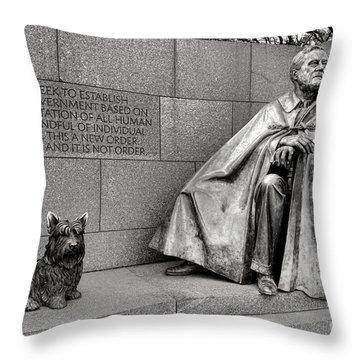 Franklin Delano Roosevelt Sculpture  Throw Pillow