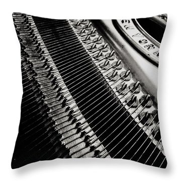 Franklin Piano Throw Pillow
