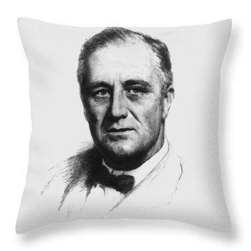 Franklin Roosevelt Throw Pillow
