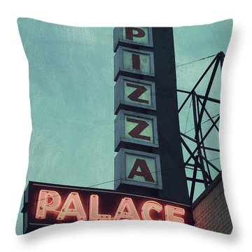 Throw Pillow featuring the photograph Frank's Pizza Palace by Joel Witmeyer
