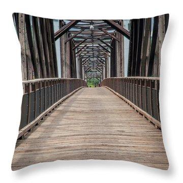 Fraser River Footbridge Throw Pillow