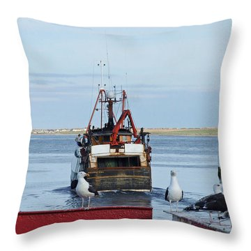 Fraserburgh - The Departure Throw Pillow