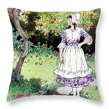 Frau Holle Also Known As Mother Holle Or Old Mother Frost Throw Pillow