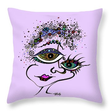Frazzled Throw Pillow by Tanielle Childers