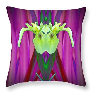 Freaky Iris Throw Pillow