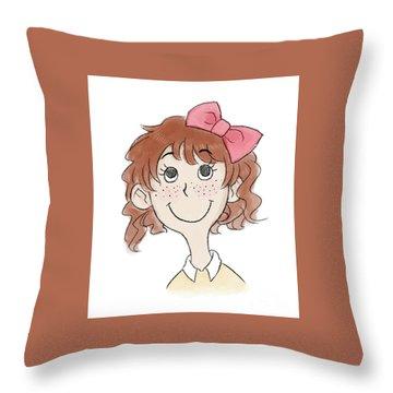 Freckle Face Coco Throw Pillow