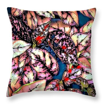 Throw Pillow featuring the digital art Freckle Face by Pennie  McCracken