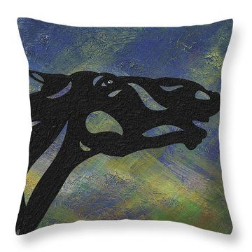 Fred - Abstract Horse Throw Pillow