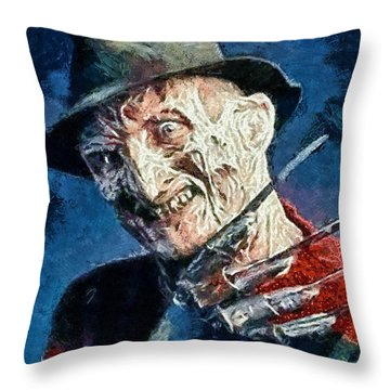 Freddy Kruegar Throw Pillow
