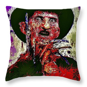 Freddy Krueger Throw Pillow